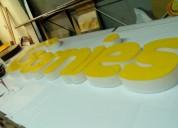 Letras en acrilico, alto relieve, con iluminación
