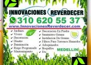 ⭐ jardineros medellin, vivero, paisajismo, diseño