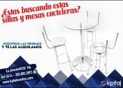 Alquiler mesas de vidrio y sillas metalicas