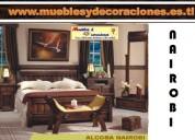 cama doble en madera