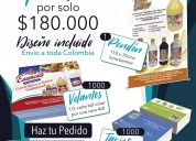 Súper oferta - 1000 volante + 1000 tarjetas + 1 pe
