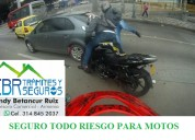 Seguro para motos de bajo cilindraje hasta 250  cc