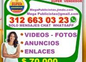 ⭐ 70 mil, rescato negocios, mega publicista, agenc