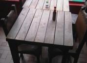 Mesas de madera usadas en bogotá