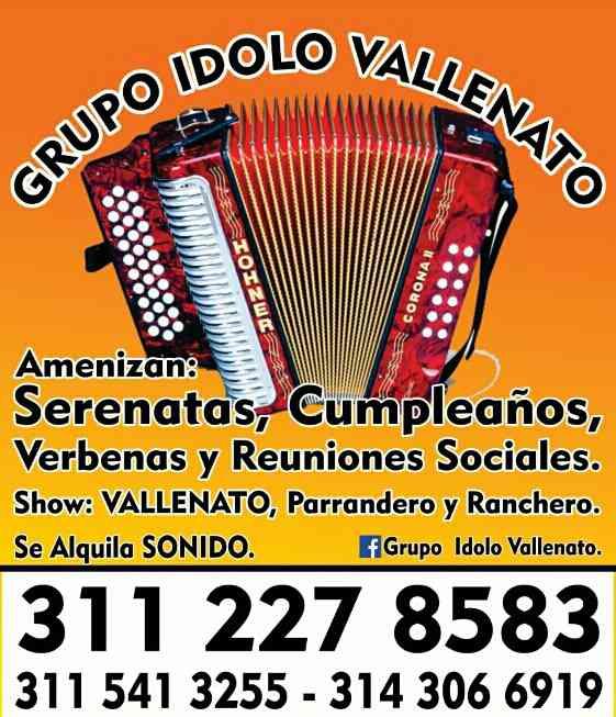 Grupo Idolo Vallenato 3112278583
