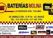 Baterias para carros motos y ups accesorios - repuestos