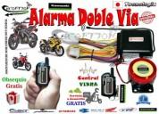 Alarma doble via vibra a 400 mts domicilio y obsequio gratis 1 ano de garantia accesorios - repuesto