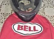 Casco bell qualifier mate negro y guantes cascos - ropa de motociclista
