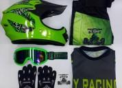Uniforme de bicicross o motocross cascos - ropa de motociclista
