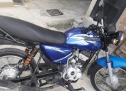 Moto boxer color azul