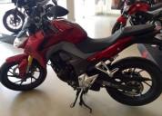 Honda cb roja color rojo