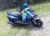 Vendo moto sym crox color azul