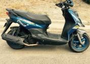 moto automatica color azul