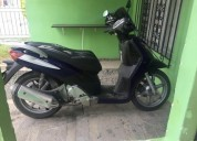 moto automatica solo targeta 150 keeway color azul