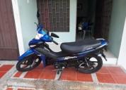 Hermosa moto auteco victory advance 110 color azul