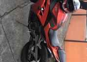 Motocicleta kawasaki ninja 300 color anaranjado
