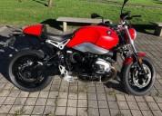 Bmw r ninet pure color rojo