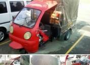 Se vende motocarro color rojo