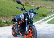 Ktm 390 2016 impecable al dia recib moto color negro