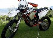 Vendo moto enduro ktm 450 excf six days alemania 2013 color blanco