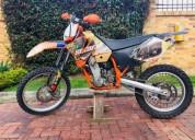 Ktm 400 exc 2002 enduro motocross color anaranjado