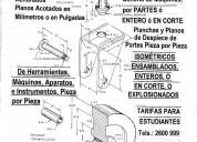 Dibujo de planchas urgentes y planos de dibujo tÉc