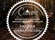 Desarrollo de exámenes y trabajos de matemáticas..