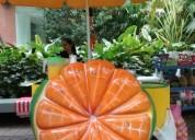 Carro para venta de jugos y frutas