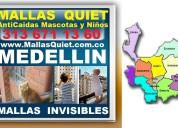 ⭐ mallas quiet medellin, redes invisibles para niñ
