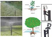 Microaspersores con estaca, riego cultivos jardin