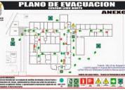 Levantamientos y dibujo de planos de rutas de evac