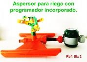 Aspersor riego cultivo con programador incorporado