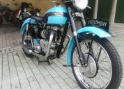 Hermosa moto clÁsica triumph bonneville 650