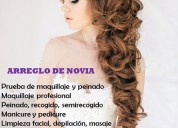 Arreglo de novia maquillaje peinado bogota