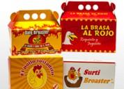 Cajas plegadizas para  asaderos de pollo