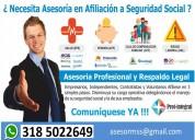 Afiliaciones a eps y seguridad social
