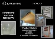 Instalacion de techos,pvc drywall wasap316624460