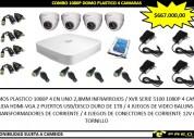 COMBO 1080P DOMO PLASTICO 2 CAMARAS