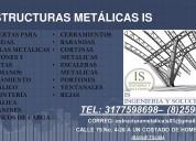 Suministro de las diferentes estructuras metalicas