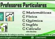 Tutores particulares de matemáticas entre otras.