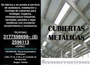 Construcción de coberturas metálicas