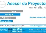 AsesorÍa monografÍas, tesis, ensayos y proyectos d