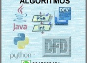 Clases de programación, algoritmos., talleres.