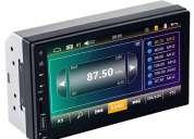 Radio para carro mp5 bluetooth usb sd mirror linkaux pantalla 7