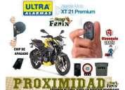 alarma para moto con chip de apagado por alejamiento marca ultra.
