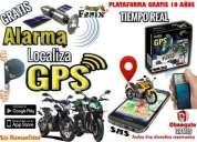 alarma gps satelital plataforma en vivo para moto a domicilio.