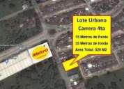 Vendo lote urbano carrea 4ta de 520 m2 area. contactarse.