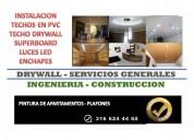 Techo pvc drywall instalacion