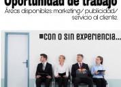 Urgente -trabajo sin experiencia en medellin
