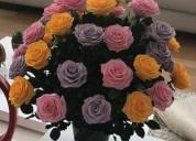 Rosas naturales preservadas florlicol para mamÁ